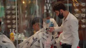 Coronavirus: Hairdressers reopen in UK