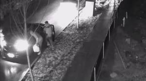 Caught on video: Suspects in Coquitlam shooting torch vehicle (01:53)