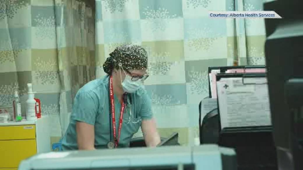 Click to play the video `` Alberta ICUs fill up with COVID-19 patients ''
