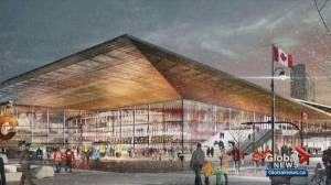 Calgary events centre: City and CSEC to each cover $12.5M in cost overruns, CMLC out (02:20)