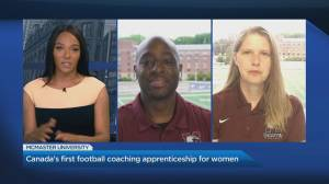 McMaster University's football team makes history with first coaching apprenticeship program for women (04:50)