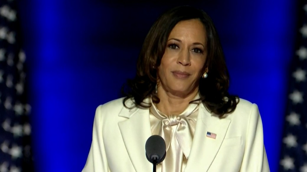 Click to play video 'U.S. election: VP-elect Harris says she reflects on women who have 'paved the way for this moment''