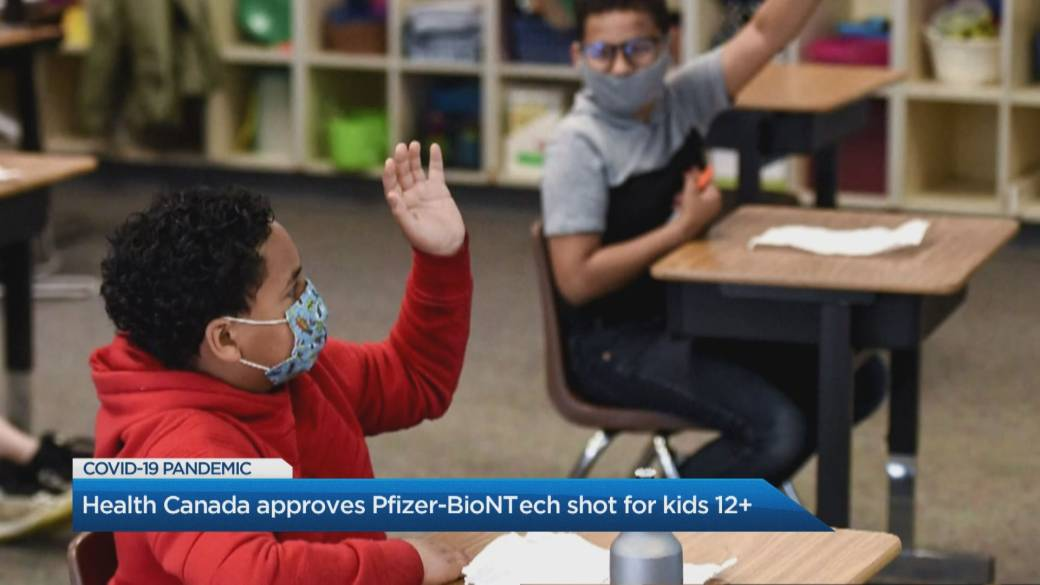 Click to play video: 'Canada becomes first country to approve Pfizer vaccine for children 12-15'