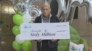 Retired fisherman wins record $60 million jackpot