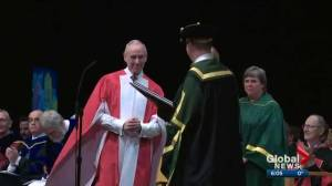 Ron MacLean in Edmonton to receive honorary law degree