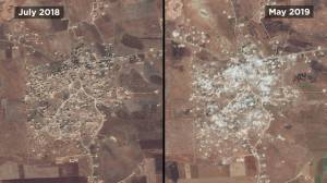 Syria: New satellite images show vast destruction and displacement in Idlib (01:15)