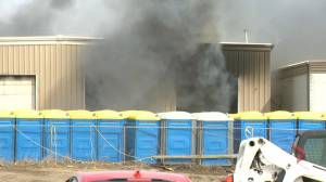Regina Fire Department battling business fire in city's northeast