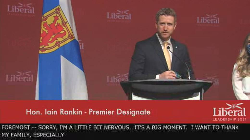Click to play video 'Nova Scotia Liberal Leader Iain Rankin says he'll be premier for all'