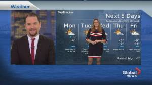 Global News Morning weather forecast: March 1, 2021 (01:19)