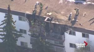 Smoking caused north Edmonton apartment fire: investigators (01:43)