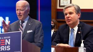 FBI director testifies there's evidence Russia aims to 'denigrate' Joe Biden in 2020 election