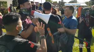RCMP investigating after violent clash at Red Deer anti-racism protest