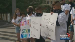 Rally held in Edmonton to demand answers after fatal officer-involved shooting (00:53)