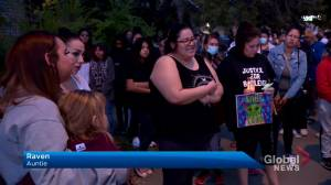 Vigil held for 9-year-old girl who died after a collision with a truck (01:45)