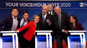 SNL skit pokes fun at Democratic presidential candidates in mock debate (09:23)