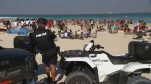 Miami Beach declares state of emergency over spring break crowds (01:58)