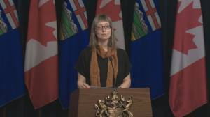 Pandemic reflects seriousness of COVID-19 situation, Alberta health official says (00:45)