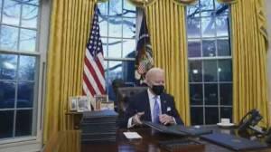 Biden's focus: 'America returns' rather than 'America first' (02:25)