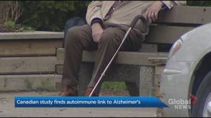 Canadian study explores link between Alzheimer's and auto immunity (01:56)