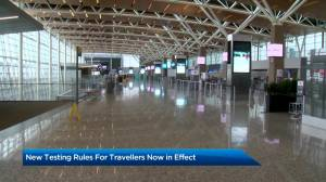 New COVID-19 testing rules for travellers landing in Canada to start Thursday (01:48)