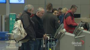 Passengers flying out of Alberta happy to flee the frigid cold