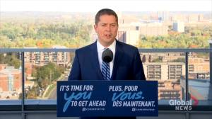 Federal Election 2019: Toronto subway lines to expand, receive funding if Conservatives elected: Scheer (01:13)