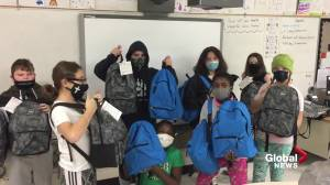 'Grade 6 students fundraise care packages for Edmontons most vulnerable (01:36)