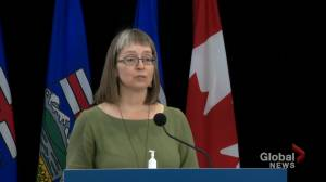 Alberta's top doctor says pressure on health system 'easing a little' (01:05)