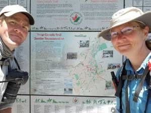 Hiking enthusiasts walking cross-country to promote Canadian outdoors