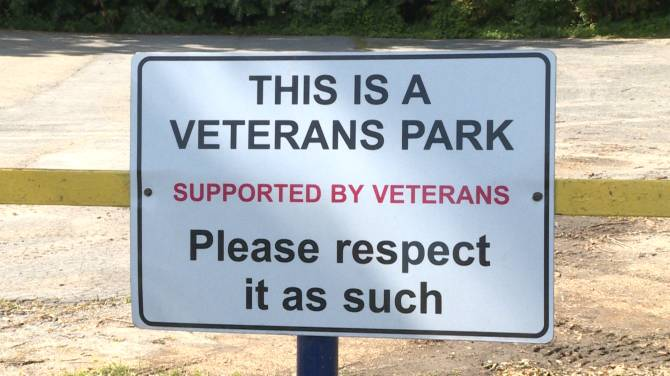 'Thoughtless' vandalism at Legion Riders Memorial Park puzzles military veteran