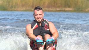 Saskatoon adaptive water-skier shatters slalom world record