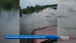 "Worst flooding in 45 years hits northwest Saskatchewan: ""Our road is underwater"""
