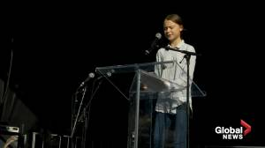 Greta Thunberg tells Montreal crowd that climate crisis is 'beyond party politics'