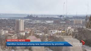 Coronavirus: Hamilton lockdown among new restrictions by Ontario government (02:06)