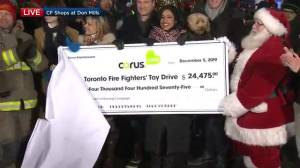 Corus, Global News raises $24,475 for the Toronto Fire Fighters' toy donation