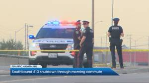Highway 410 reopens after man dies in early-morning incident