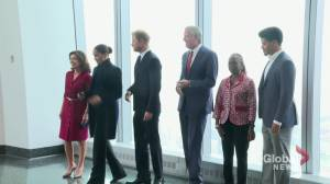 Prince Harry, Meghan Markle visit One World Observatory in NYC (00:54)