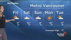 B.C. evening weather forecast: March 25 (02:23)