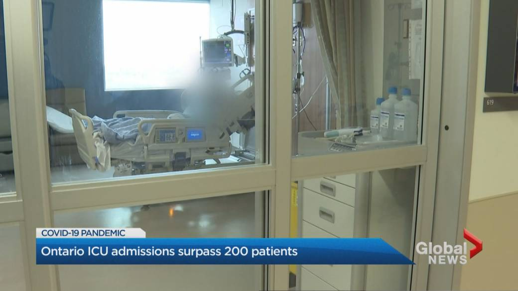 Click to play video 'Coronavirus: Ontario surpasses critical number of ICU patients'