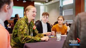 Calgary young women meet mentors for career conversation