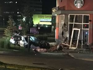 3 people killed after vehicle crashes into south Edmonton Starbucks