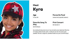 Mini-Pop's newest kid is Kingstonian Kyra Daniel