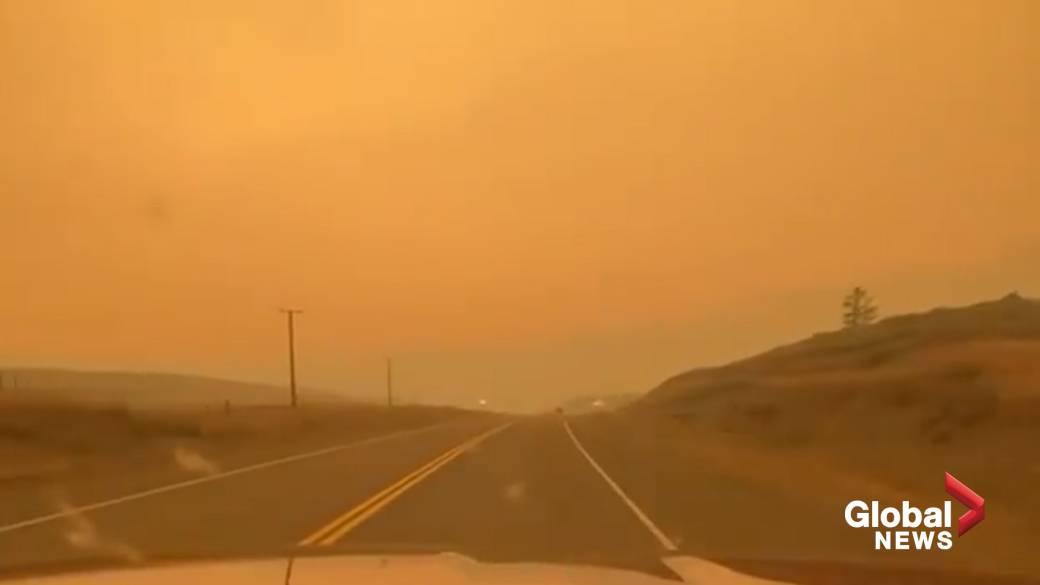 'Wildfire fume  turns British Columbia skies into murky haze'