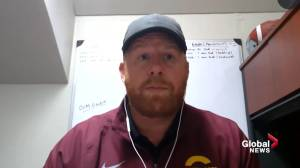 Stingers head coach reacts to sports federation decision to cancel fall university sports (03:11)
