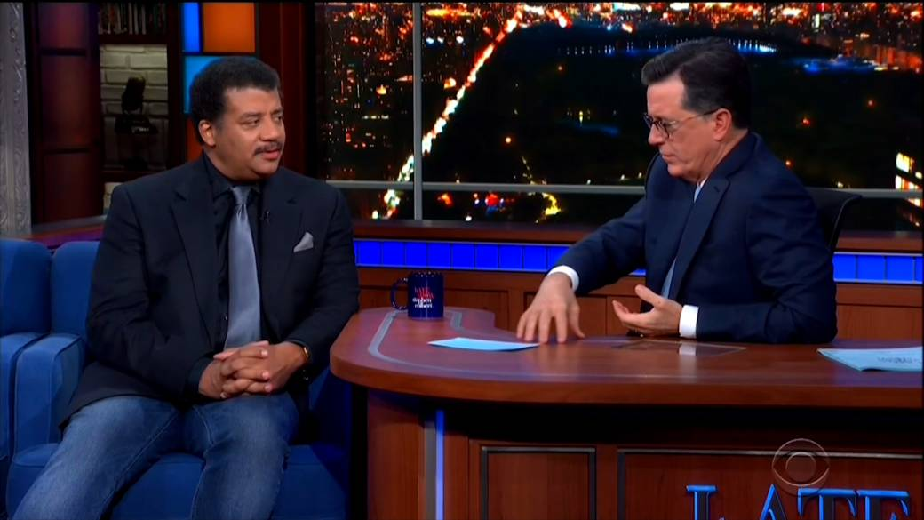 Stephen Colbert questions Neil deGrasse Tyson about sexual misconduct allegations