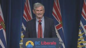 BC Liberal Leader Andrew Wilkinson stepping down (01:27)