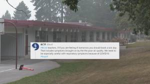 BCTF tells teachers to call in sick due to wildfire smoke