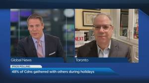 Nearly half of Canadians gathered during holidays: Ipsos Poll (04:21)