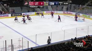 Edmonton Oil Kings shut out Lethbridge Hurricanes in second meeting of 2021-22 season (01:24)