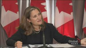 'No guarantees' in trading relationship with Trump administration, Freeland says (01:17)